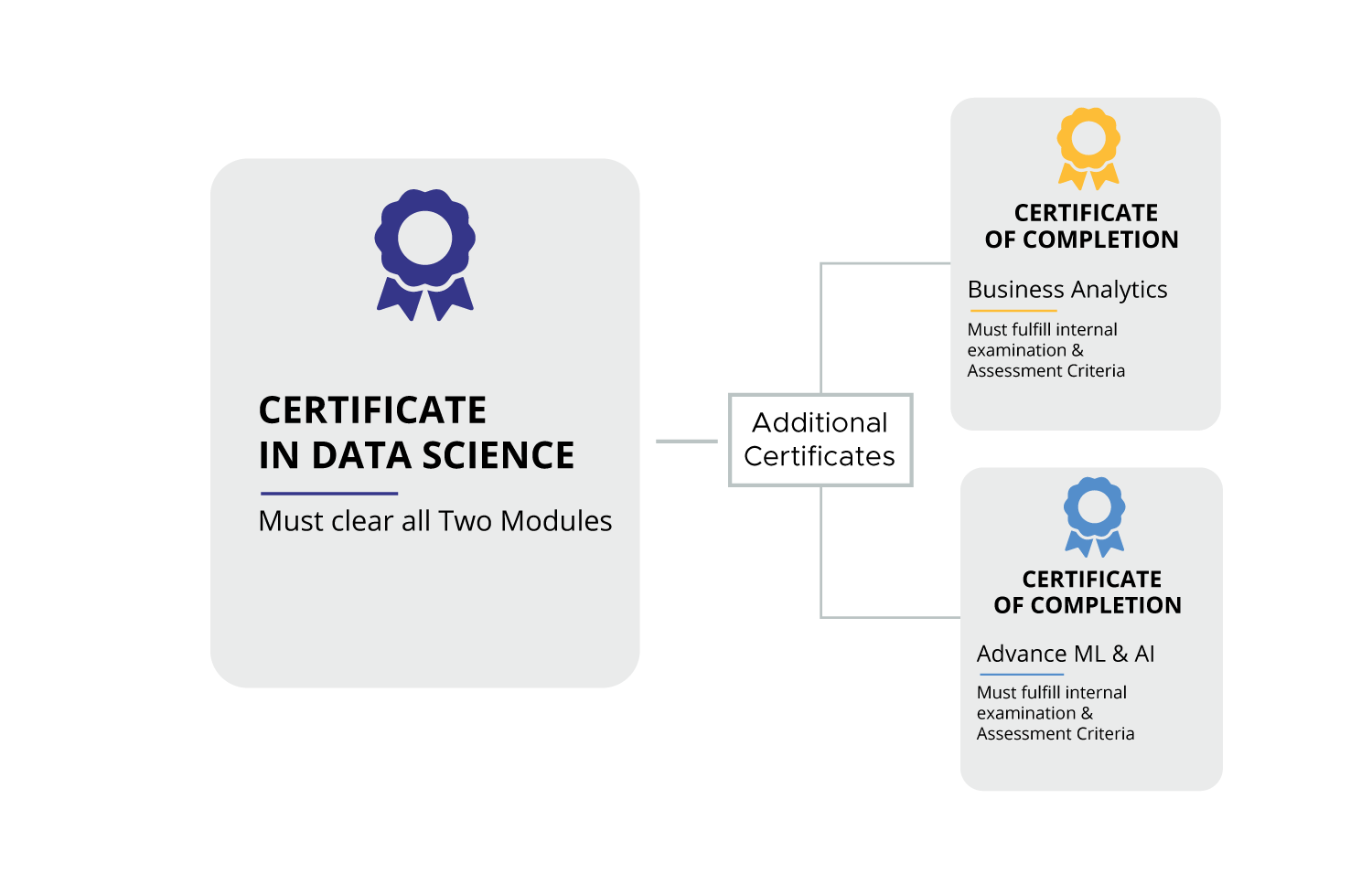 Certification process of Certificate in data science