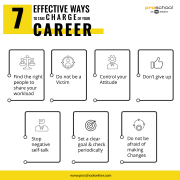 7 effective ways to take charge of your career